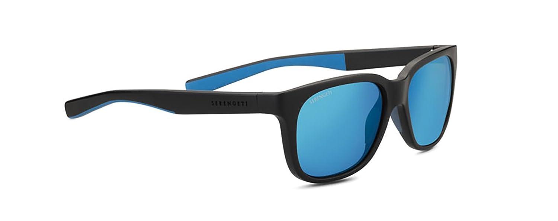 Serengeti EyewearサングラスEgeo Sandedブラック/ブルー555 nmブルー偏光レンズ   B079795YRK