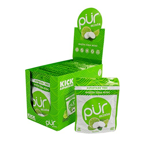 PUR Mints Aspartame Free Breath Mint, 0.8 Ounce (Pack of 12)