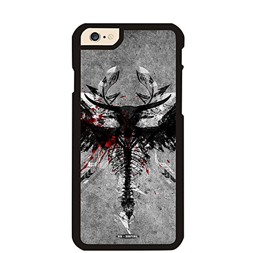 Dh-hoping (TM) Cellphoncase for Iphone 6 Plus 5.5 Inch High Impackt Combo Hybrid Hard Pc&soft TPU Border & Metal Aluminum Protective Case with Luxurious Pattern quirky (quirky XIV) ()