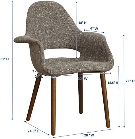 Modway Aegis Mid-Century Modern Upholstered Fabric Dining Chair