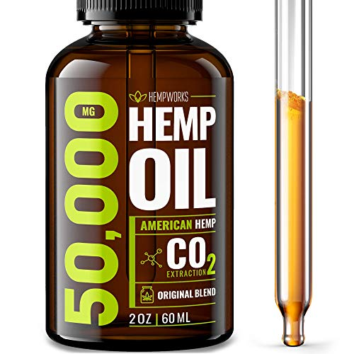 Hemp Oil 50000 MG EXTRA EFFICACY - Stress & Anxiety Relief - Made in The USA - 100% Natural & Safe Hemp Oil - Immune Support - Anti-Inflammatory & Joint Support - Ideal Omega 3, 6, 9 Balance