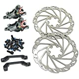 MASO G3 Front and Rear Hydraulic MTB Hybrid Bike IS Disc Brake Set with 160mm Rotors