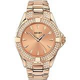 Seksy by Sekonda Intense Stone Set Rose Gold Steel Bracelet Ladies Watch 4669