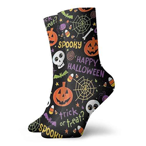 (Halloween Decoration Crew Socks- Men's Casual Socks - Colorful Funky Socks For Men - Fashion Patterned)