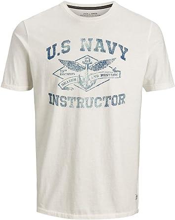 Jack & Jones Jprgreg BLU. tee SS Crew Neck Camiseta para Hombre: Amazon.es: Ropa y accesorios