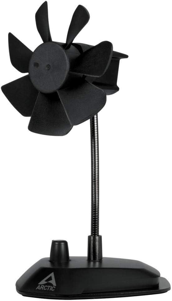 ARCTIC Breeze – USB Desktop Fan with Flexible Neck and Adjustable Fan Speed I Portable Desk Fan for Home, Office I Silent USB Fan I Fan Speed 800 – 1800 RPM – Black