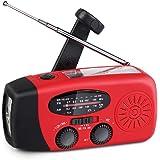 Upgrade Portable Solar Emergency Weather Radio Hand Crank AM/FM NOAA Survival Radios with LED Flashlight 1000mAh Power…