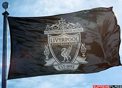 (Liverpool Flag Banner 3x5 ft Reds England Premier Football Soccer Black)