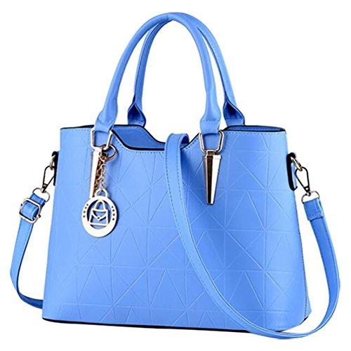 Mujer Bolsos Baymate y con Bandolera de Bandolera Asas Elegante Azul Bolso Luz qaxwE8UaB