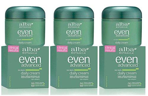 Alba Botanica Natural Even Advanced Daily Cream -- 2 oz each