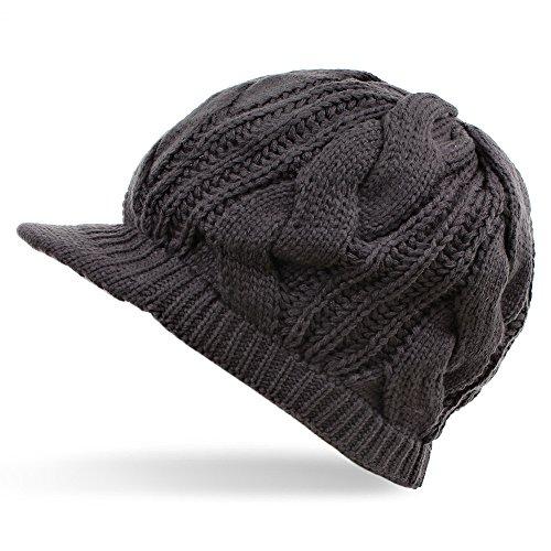 Distressed - Cap/Ballonmütze Slouch (dunkelgrau)