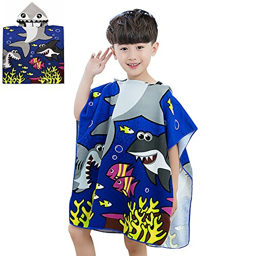 (CUTE Baby Hooded Towel,STAR-TOP 100% Organic Cotton,Soft,Children's Cartoon Bathrobe for Baby Gifts (Angel))
