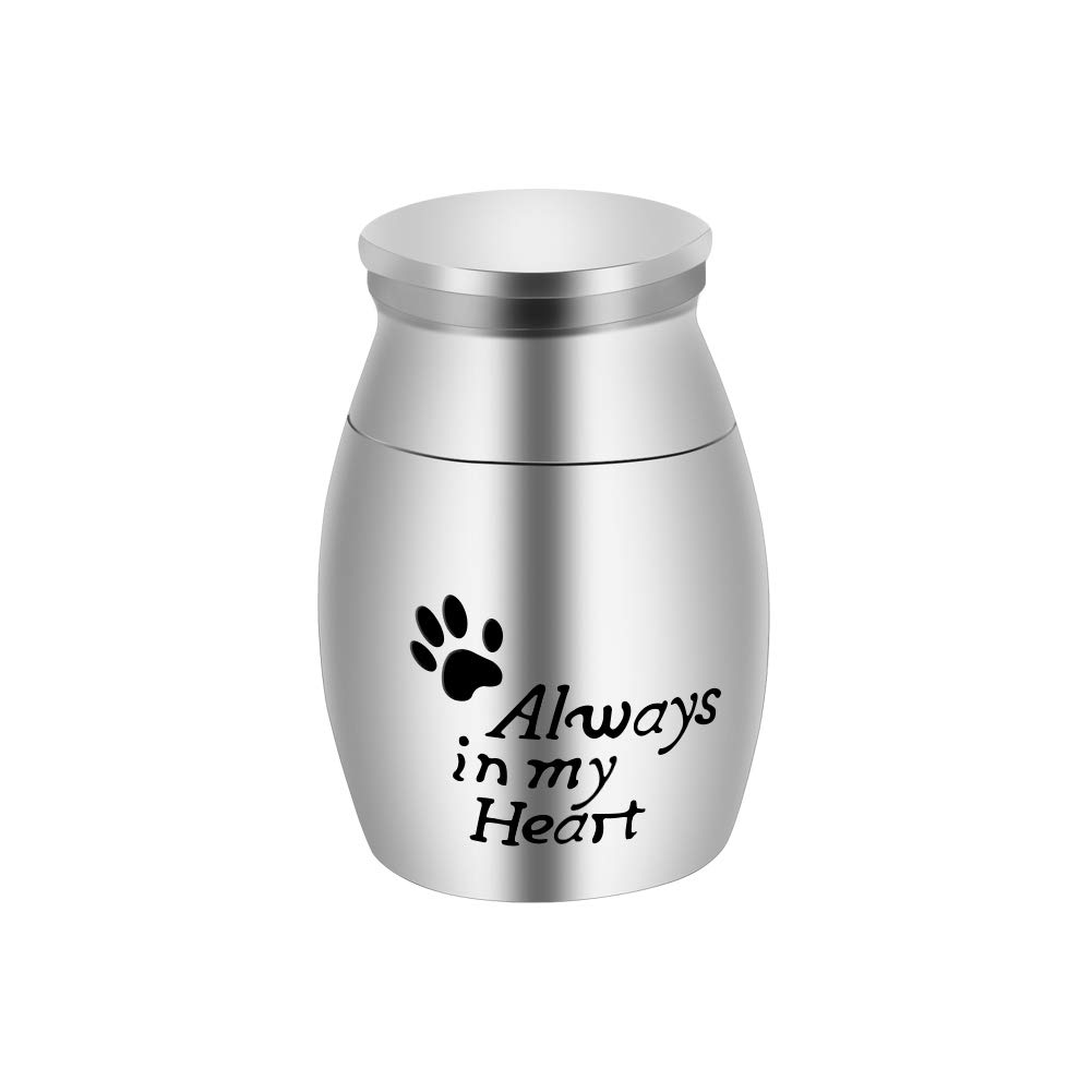 abooxiu Cremation Urn for Pet Ashes Keepsake Miniature Burial Funeral Urns for Sharing Ashes Dogs Cats Human - Customize Available 51JSGjol6uL