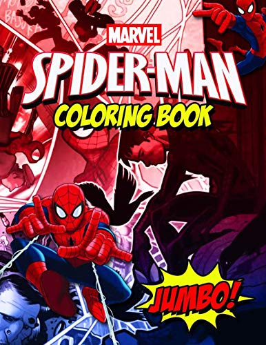 Spiderman Coloring Book: Spiderman Comics Jumbo Coloring Book For Kids Ages 4-8 With 30 Premium -