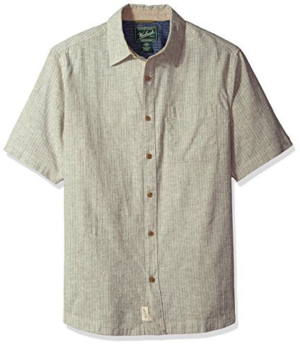 (Woolrich Men's Mainroad Eco Rich Short Sleeve Shirt, Wool Cream, Small)