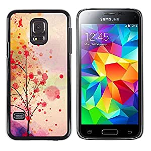 LECELL--Funda protectora / Cubierta / Piel For Samsung Galaxy S5 Mini, SM-G800, NOT S5 REGULAR! -- Autumn Leaves Tree Romantic --