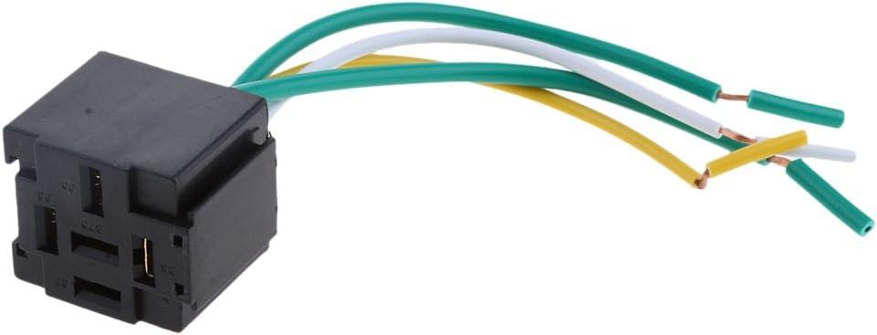 Homyl Relais Porte-connecteur Automobile Voiture Socket Harnais Douilles de Harnais 40A 4 Broches