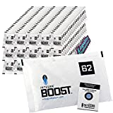 Integra Boost 67g 62% Percent 100 Pack for Humidity Control- Premium Humidifier Packets Preserve Herb Smell. Moisture Curing Gel Packs for Cigar, Humidor and Cannador. Free Legalize Tomatoes Sticker