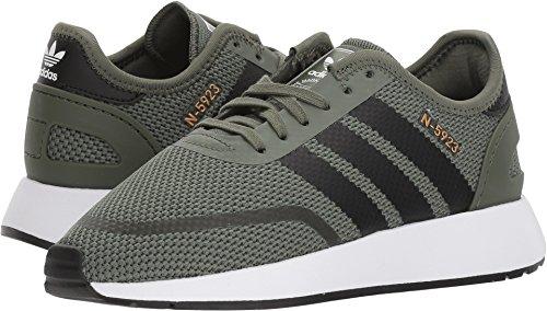 - adidas Unisex-Kids N-5923 J Sneaker, Base Green, Core Black, Ftwr White, 5 M US Big Kid