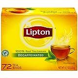 Lipton Black Decaffeinated Hot Tea Bags, 72-Count Box