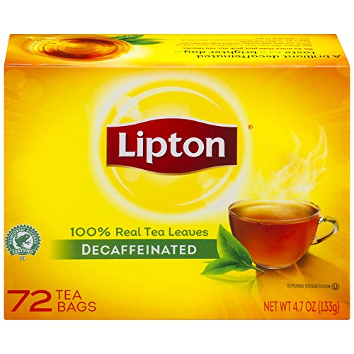 Lipton Black Decaffeinated Bags 72 Count