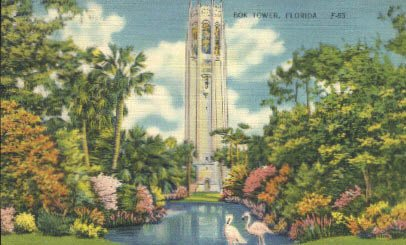 Bok Tower, Florida Postcard