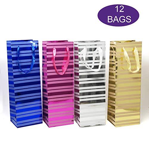 Allgala 12-PC Premium Everyday Designed Gift Bags