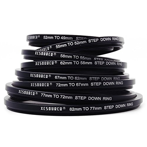 XCSOURCE¨ 8x Step Up + 8x Step Down Ring Filter Stepping Adapter 49-82mm 82-49mm DC147