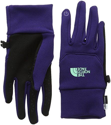 Face Mittens (The North Face Etip Glove Womens Garnet Purple/Surf Green M)