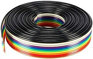 Sourcingmap Cable de cinta plana 10 unidades, 1,27 mm, 3 m color arco/íris