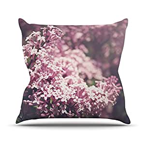 "KESS inhouse ja1005aop0318x 45,7""Jillian Audrey Floral, color rosa, diseño de lilas"" Cojín Manta de exterior, multicolor"