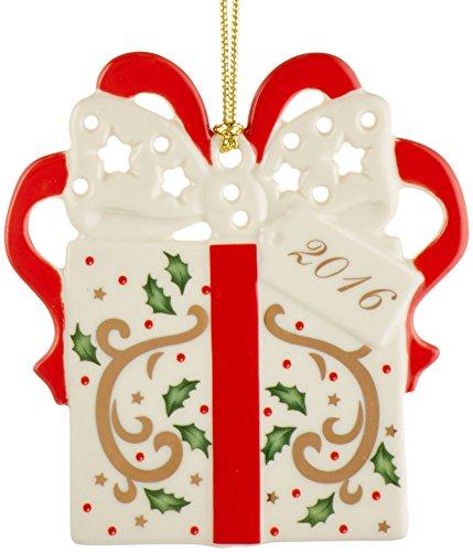 Lenox 2016 Joyous Tidings Present - Dated Ornament Annual
