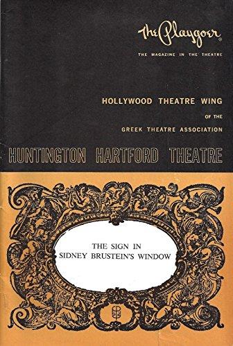 "Gabriel Dell ""SIGN IN SIDNEY BRUSTEIN'S WINDOW"" Alice Ghostley 1965 Playbill"