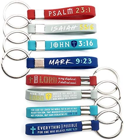 12 Pack Christian Religious Keychains Assorted product image