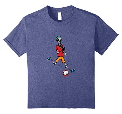 Kids Zombie Soccer Player T Shirt Halloween 2017 8 Heather Blue