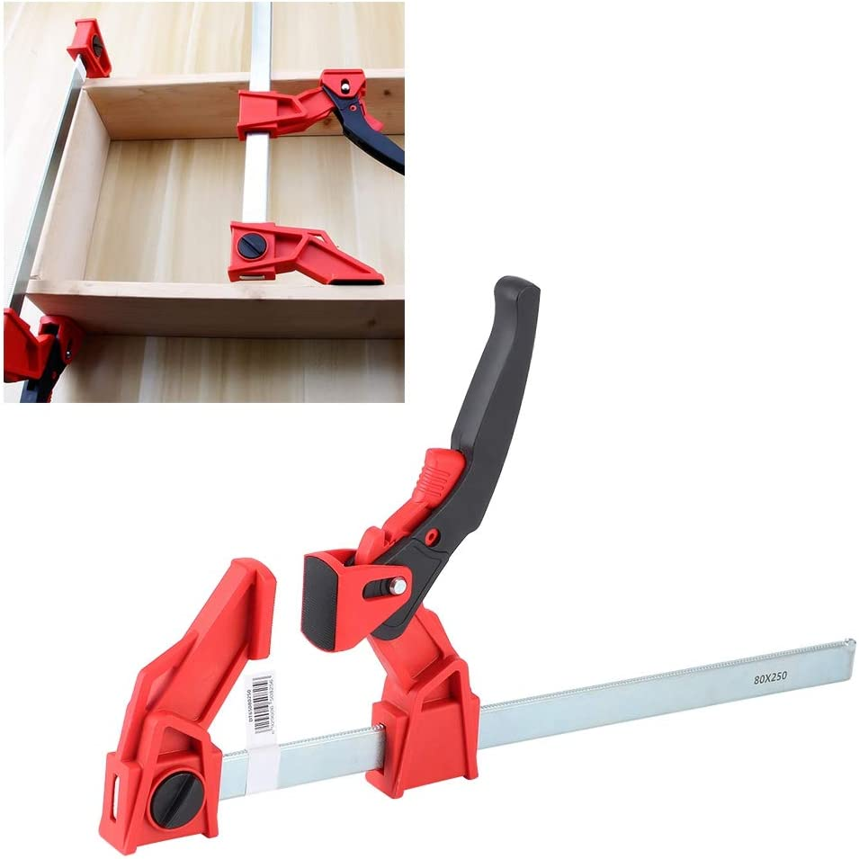 Amazon Com Wosume Ratchet Bar Clamp Heavy Duty Ratchet F Clamp Adjustable Woodworking Fixing Bar Clips Clamps Carpentry Tools Home Kitchen