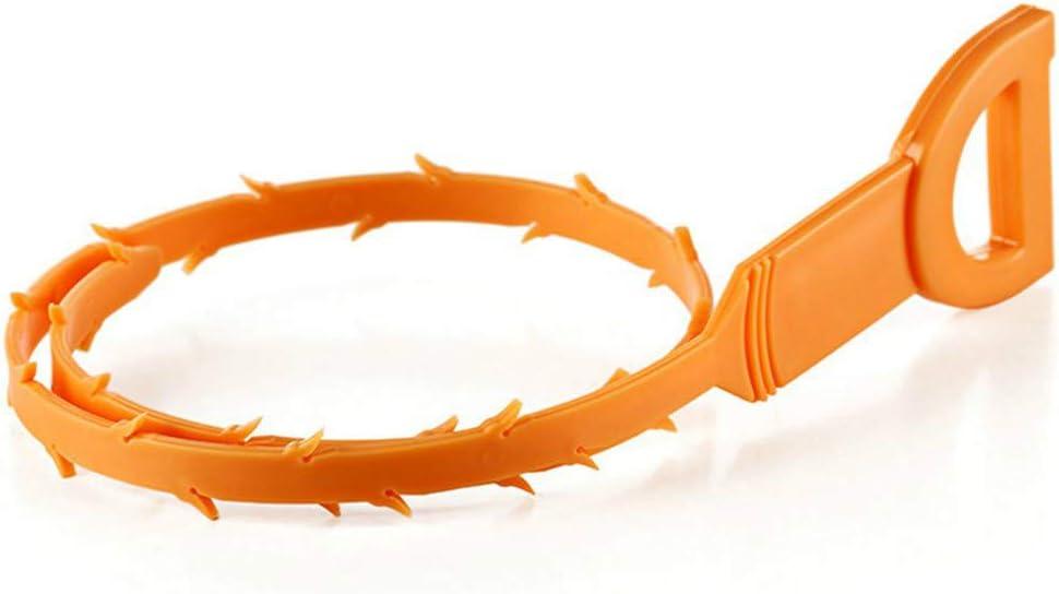 babysbreath17 Tubo de Drenaje alcantarilla de la la Serpiente Limpiadores de Pipa Limpio Hook Herramienta Tira de plástico de Cocina Dispositivo Draga de Cangilones