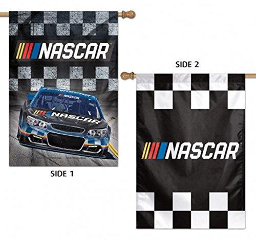 NASCAR 2 Sided Vertical Banner Flag Checkered Flag Race Car - Two Sided Banner Flag