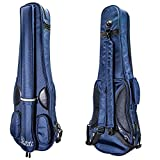 PAITITI Triangular Full Size Violin Soft Bag Lightweight Backpackble Navy Color