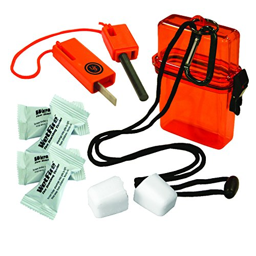 UST Fire Starter Kit 1.0 with Waterproof, Impact Resistant Design, Essential Fire Starting Tools and Lanyard for Camping, Hiking, Emergency and Outdoor Survival - Fire Starter Design
