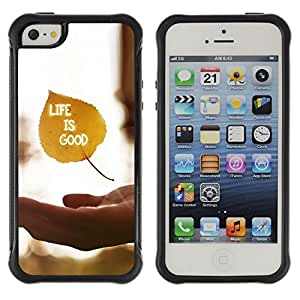BullDog Case@ Life Is Good Rugged Hybrid Armor Slim Protection Case Cover Shell For iphone 5S CASE Cover ,iphone 5 5S case,iphone5S plus cover ,Cases for iphone 5 5S