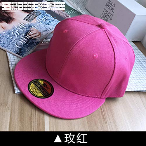 Unique hat Cap Women Girls Tide Style Men Man Couple Lover Solid Color Base Summer Sun Cap Benn Flat Along Street Dancing Outdoors (Rose red 603