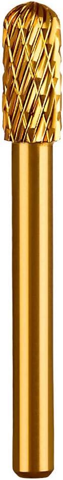 5Pcs 6mm Fraises Rotatives en Carbure de Tungst/ène Double Rotary Burr Set pour Dremel Per/çage Gravure Gravure Dor/é Meulage Polissage Batop Fraise Rotative