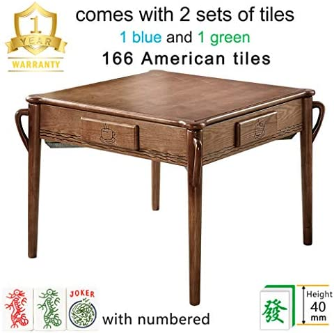 Luxury 166 American Tiles Solid Ash Wood Automatic Mahjong Table