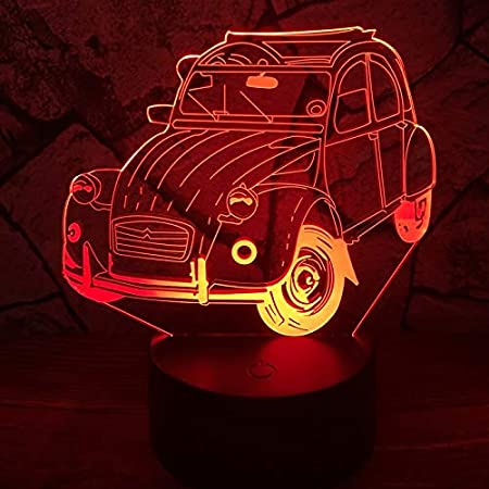 Amazon.com: HeroStore Claasic Vintage Car 7 Color Change lapara Lava LED Lamp Table Desk Night Light Decor Boy Christmas Birthday Gift Halloween: Kitchen & ...