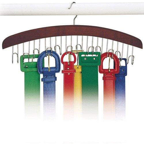 Walnut Belt Hanger - Holds 12 by Richards Homewares ()