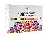 Positive Art Colored Pencils—120 Unique Colors Premium Pre-sharpened—Perfect for adult coloring books,Drawing, Sketching, and Crafting Projects — Bold,Vibrant Colors —3.3mm Precision Tips