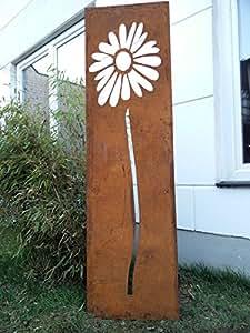Jardín Inspiration de óxido Natural de privacidad con diseño de flores