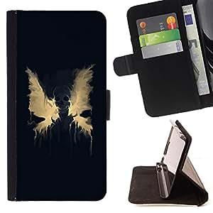 DEVIL CASE - FOR Samsung Galaxy S4 Mini i9190 - Wings Paint Splash Modern Art Angel Devil Death - Style PU Leather Case Wallet Flip Stand Flap Closure Cover