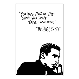 The Office Wayne Gretzky Funny Michael Scott Quote Poster